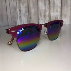 320c499330 Ray-Ban Accessories - Ray Ban Clubmaster Sunglasses Rainbow Mirror
